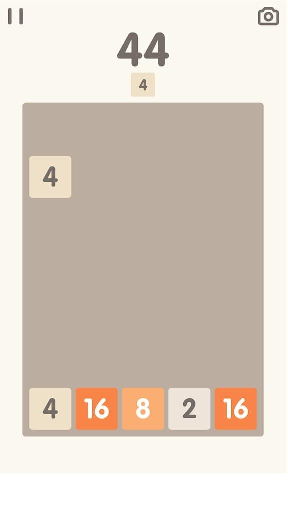 「2048 Bricks」の遊び方1