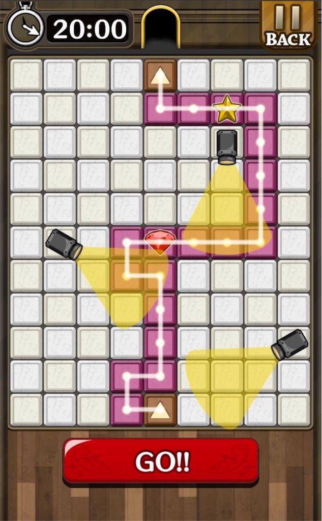 【怪盗パズル】 ステージ4の攻略