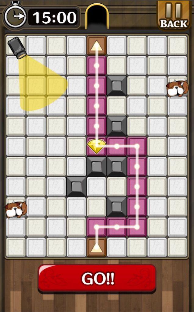 【怪盗パズル】 ステージ12の攻略