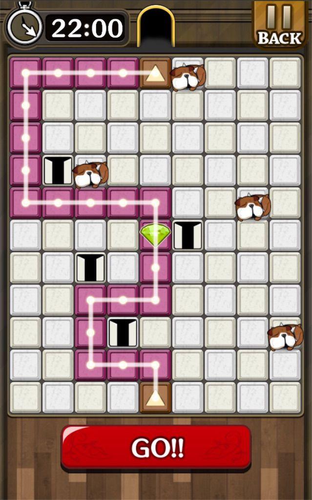 【怪盗パズル】 ステージ16の攻略