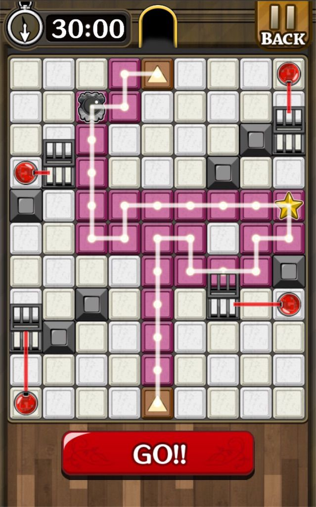 【怪盗パズル】 ステージ22の攻略