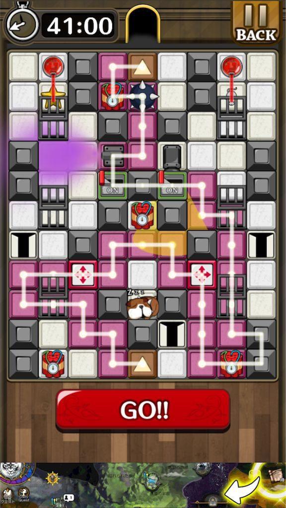 【怪盗パズル】 ステージ54の攻略