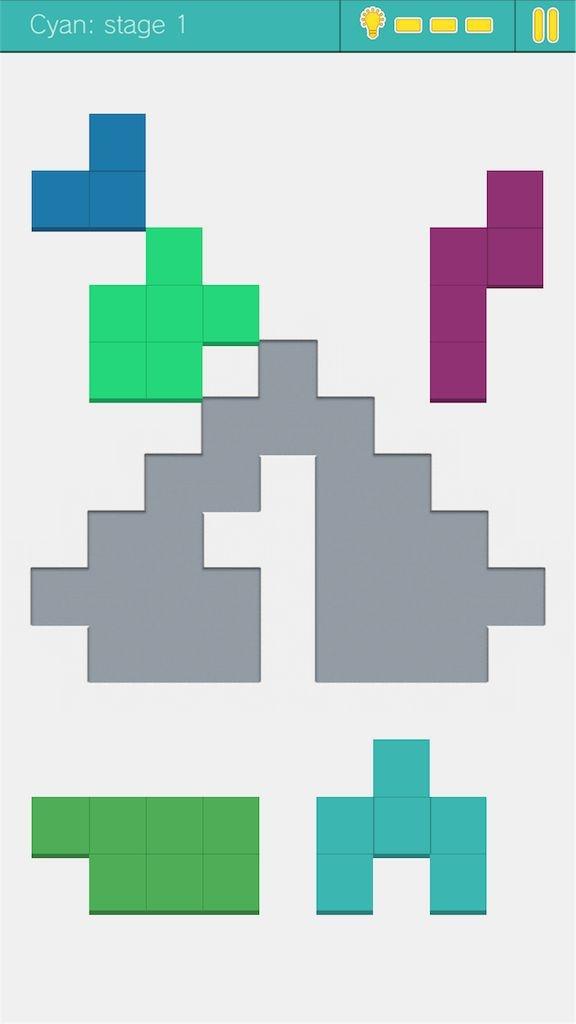 【Fits パズルゲームで頭の体操】 遊び方2