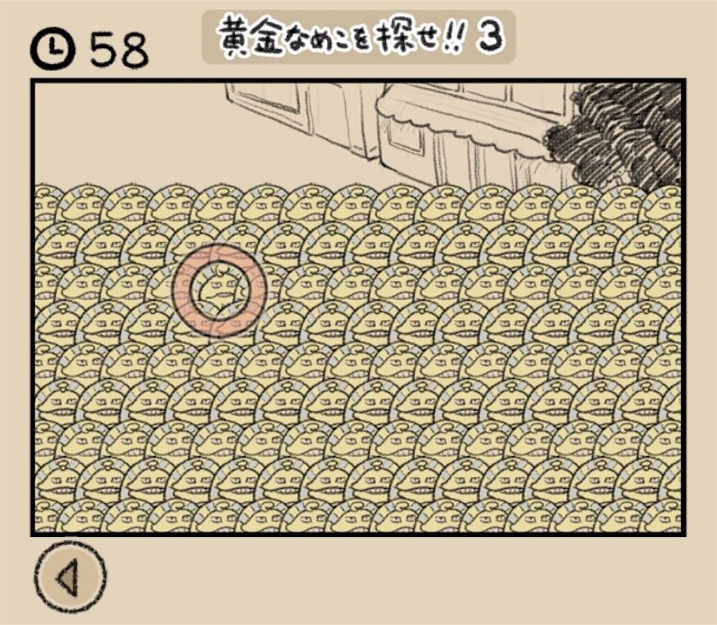 【なめよん ~なめこの脱出ゲーム~】 22話「黄金なめこを探せ!!3」の攻略2
