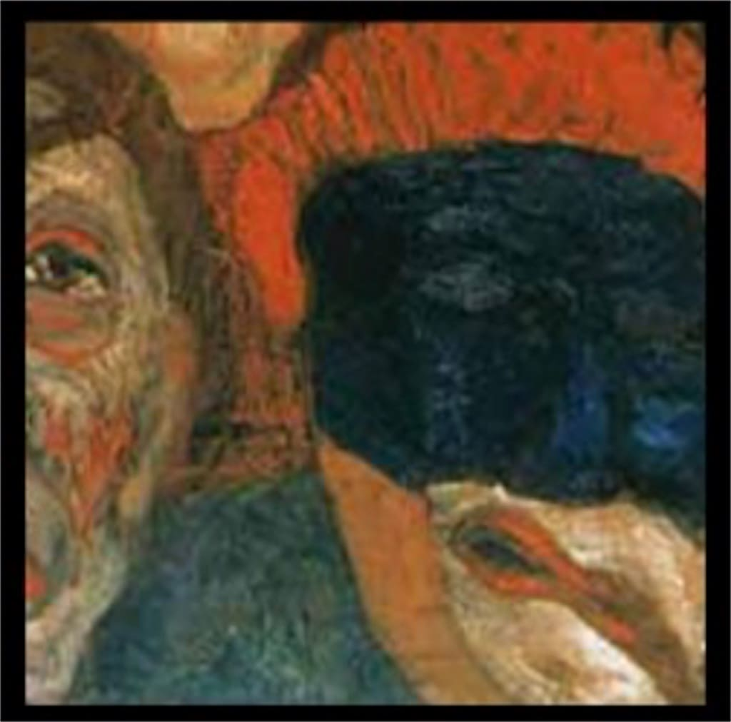 「仮面に囲まれた自画像」: 意味が分かると怖いポイント2