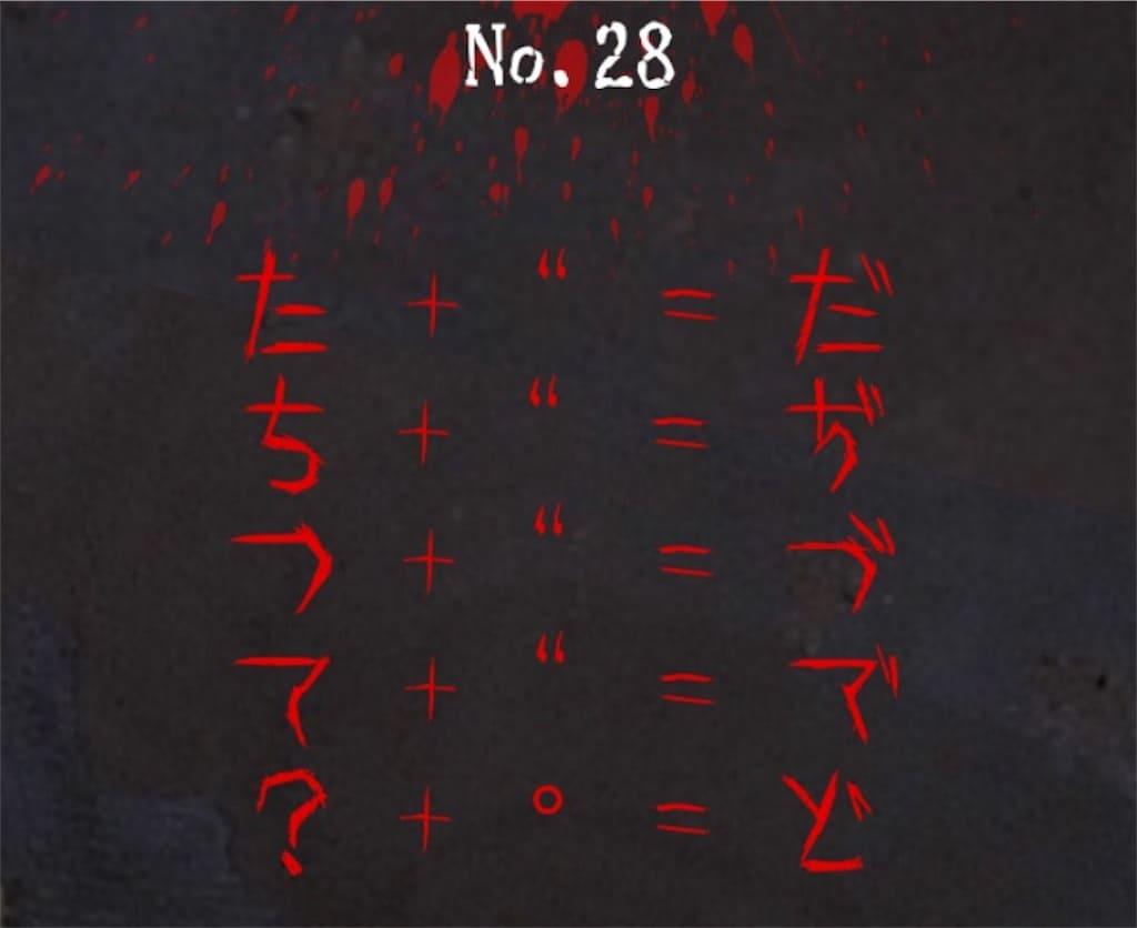 【謎解き 廃墟からの脱出】 No.28の攻略