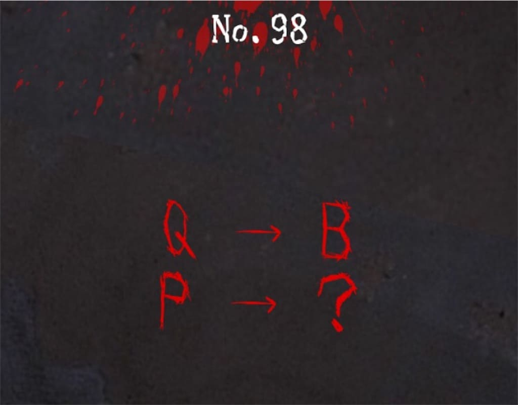 【謎解き 廃墟からの脱出】No.98の攻略
