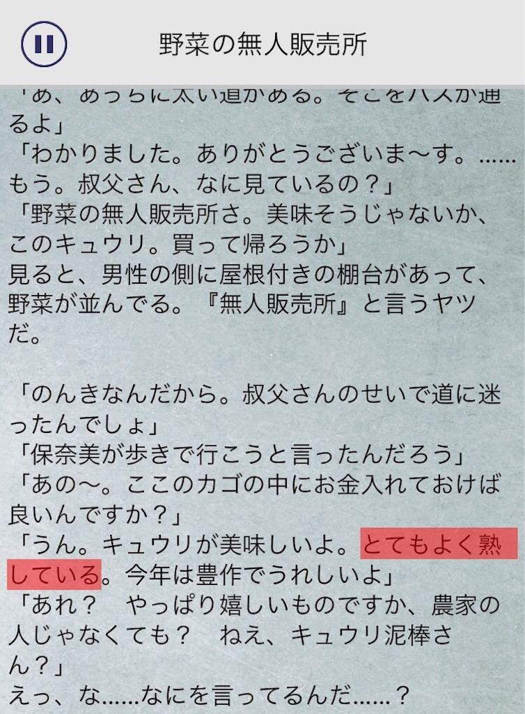 【罪と罰3】 File.04「野菜の無人販売所」の攻略