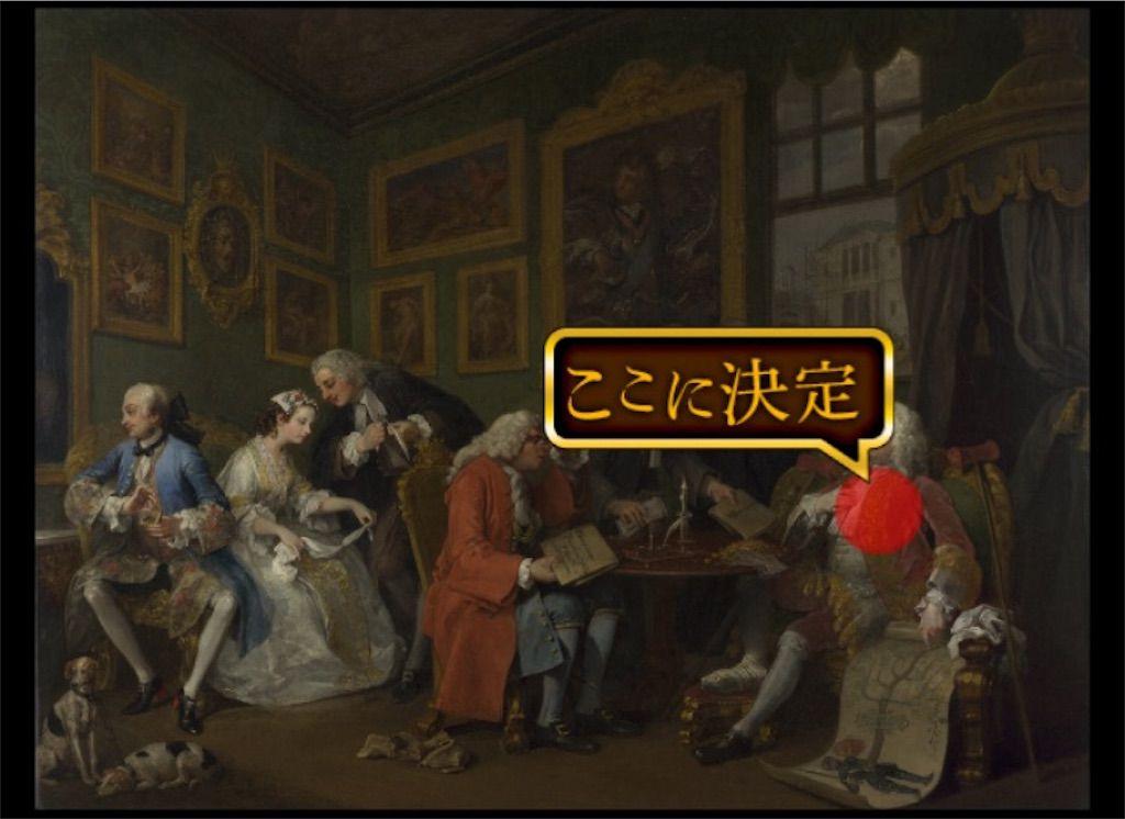 【意味が分かると怖い絵5】 「当世風結婚Ⅰ 結婚の契約」の攻略4