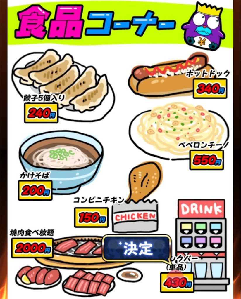 【原価クイズ】 ステージ2「食品の原価」の攻略4