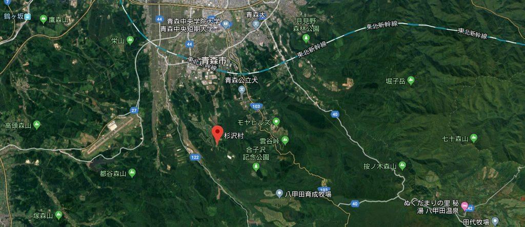 杉沢村は青森県に存在