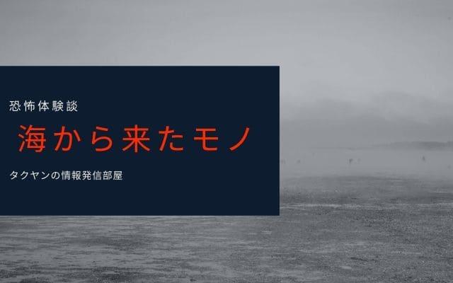 【海からやってくるモノ】恐怖体験談