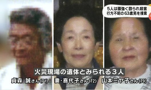 山口連続放火殺人事件での被害者