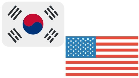 韓国とアメリカで利用できる