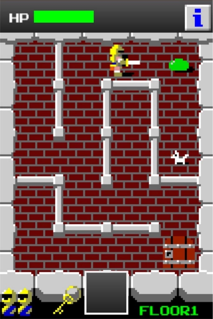 【狭くて小さいドルアーガの塔】 ステージ1の攻略1