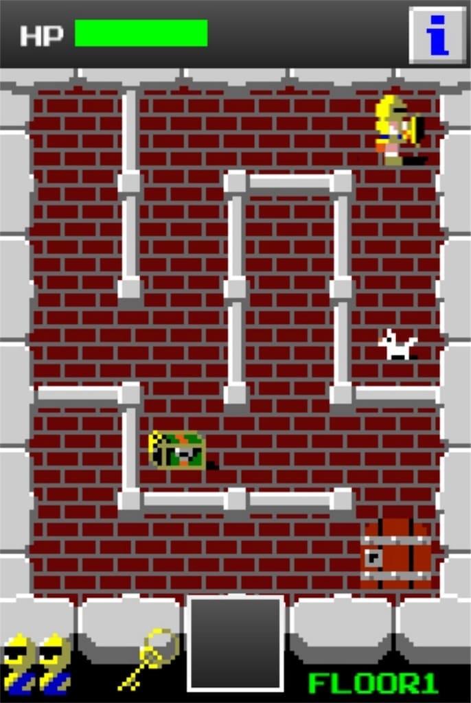 【狭くて小さいドルアーガの塔】 ステージ1の攻略3