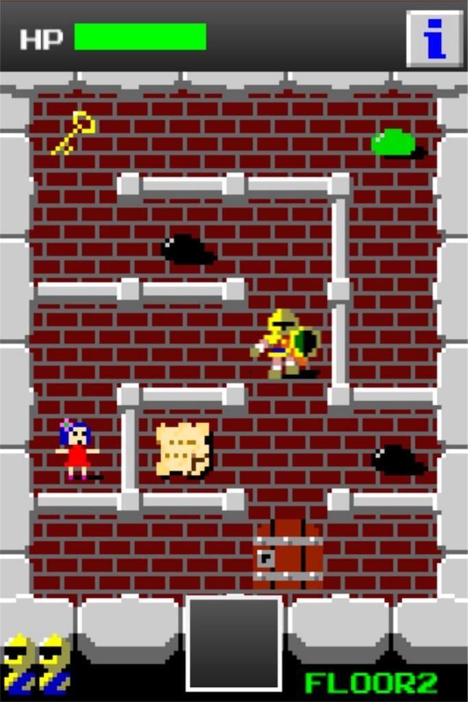 【狭くて小さいドルアーガの塔】 ステージ2の攻略