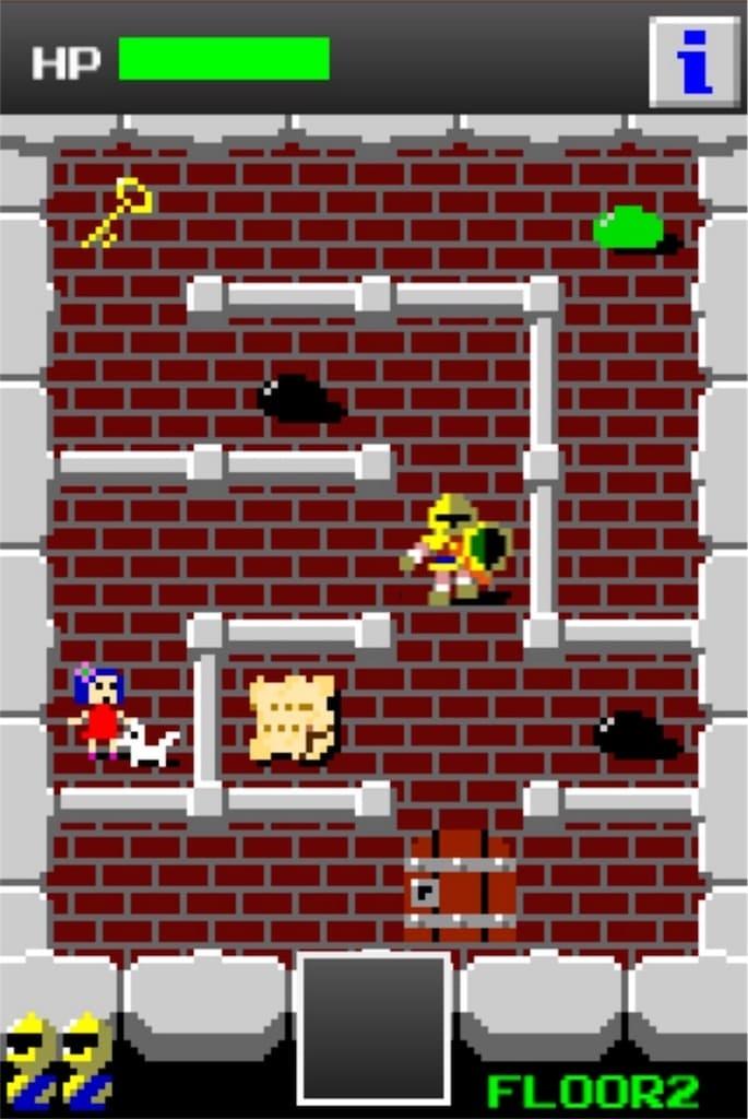 【狭くて小さいドルアーガの塔】 ステージ2の攻略1