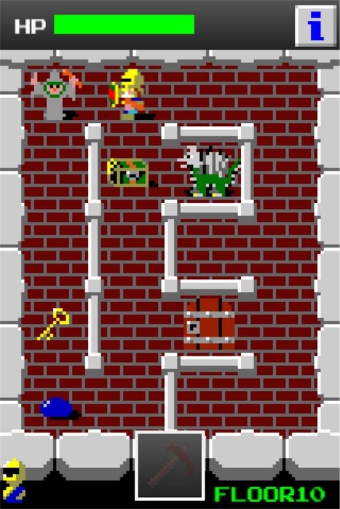 【狭くて小さいドルアーガの塔】 ステージ10の攻略1