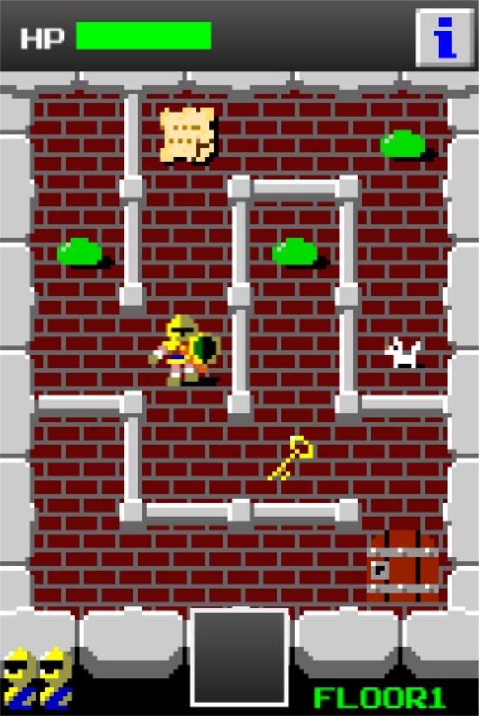 【狭くて小さいドルアーガの塔】 ステージ1の攻略