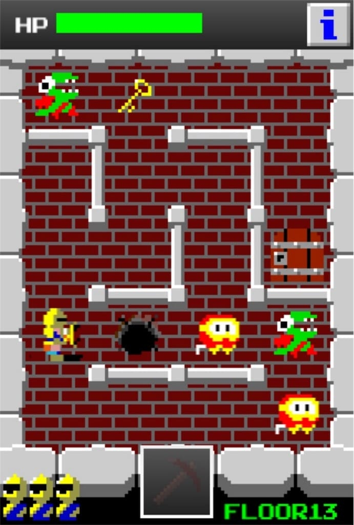 【狭くて小さいドルアーガの塔】 ステージ13の攻略1