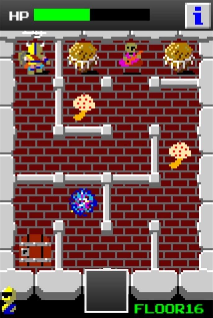 【狭くて小さいドルアーガの塔】 ステージ16の攻略1