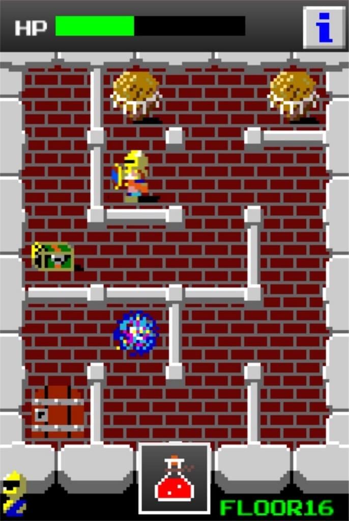 【狭くて小さいドルアーガの塔】 ステージ16の攻略5