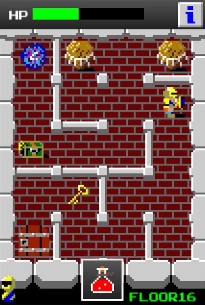 【狭くて小さいドルアーガの塔】 ステージ16の攻略6