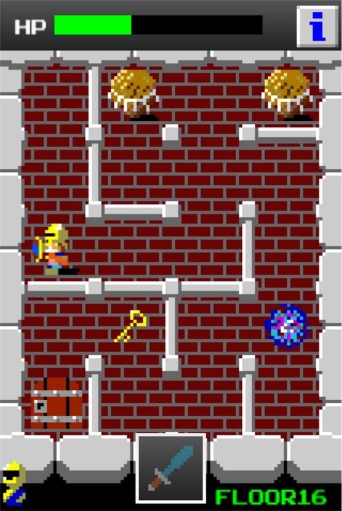 【狭くて小さいドルアーガの塔】 ステージ16の攻略7
