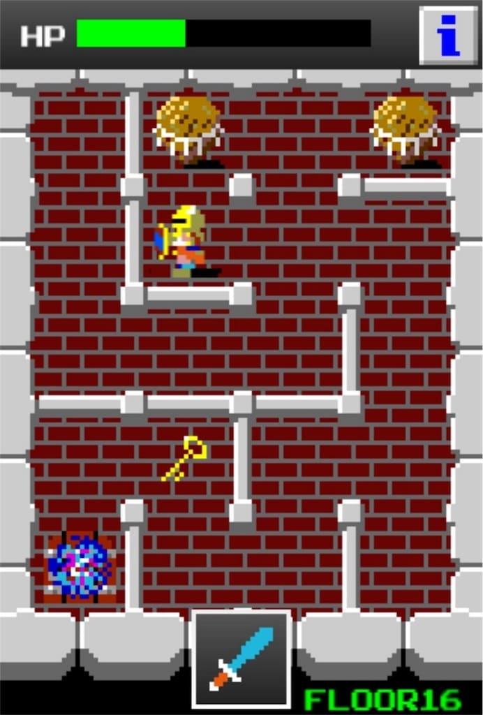 【狭くて小さいドルアーガの塔】 ステージ16の攻略8