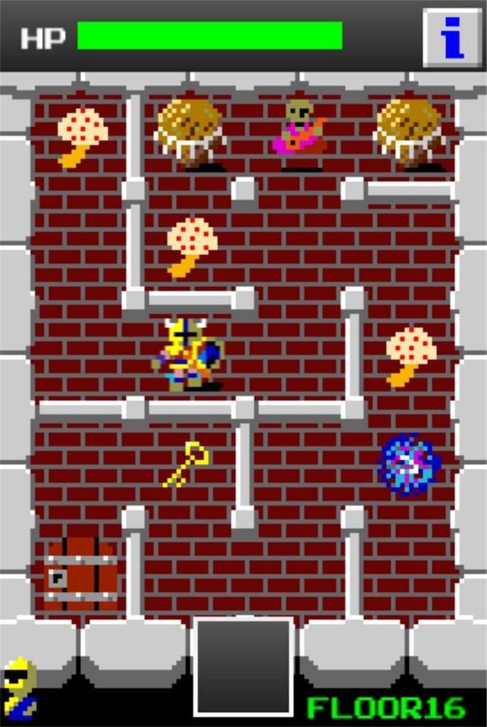 【狭くて小さいドルアーガの塔】 ステージ16の攻略