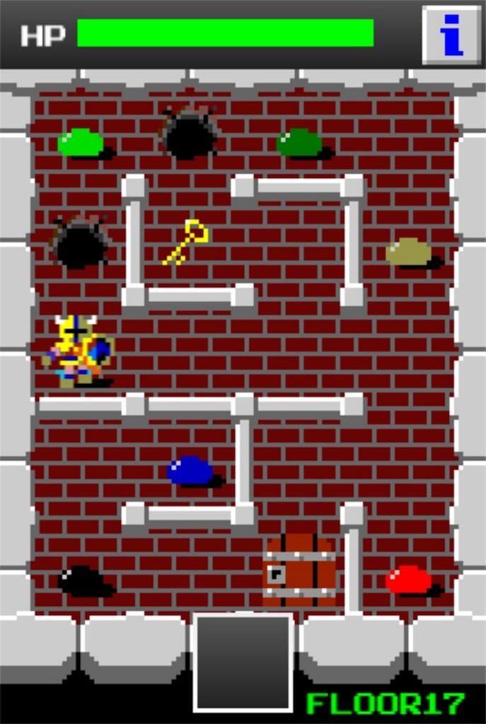 狭くて小さいドルアーガの塔 ステージ17の攻略