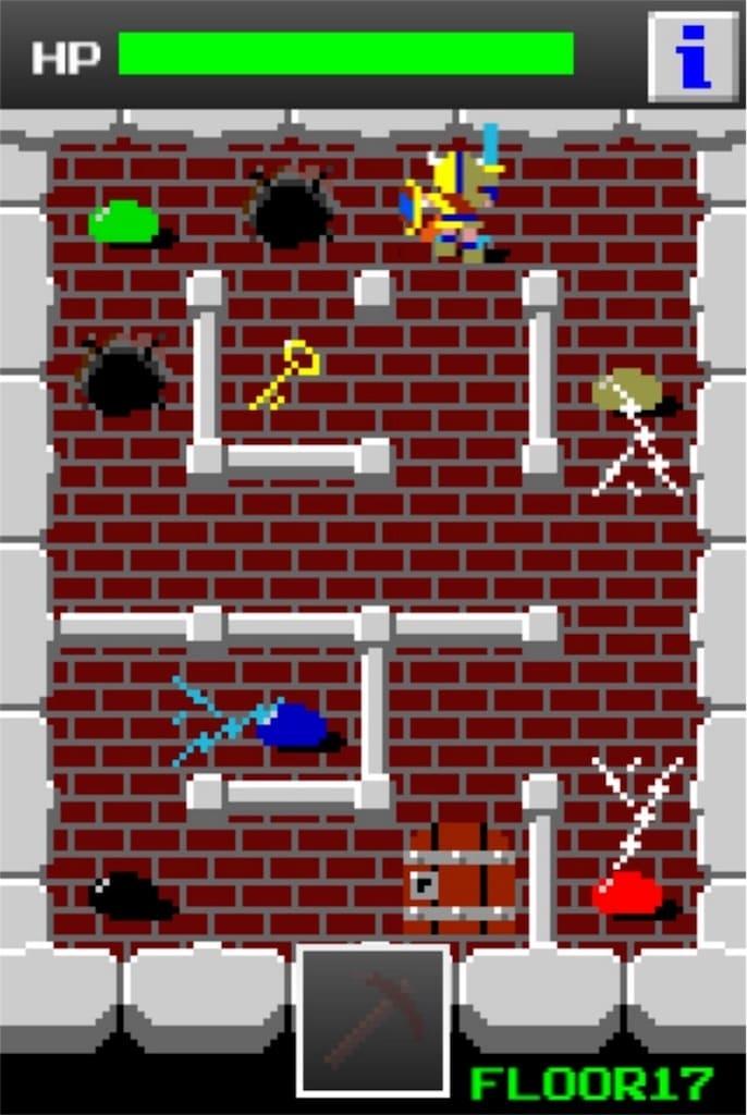 狭くて小さいドルアーガの塔 ステージ17の攻略2