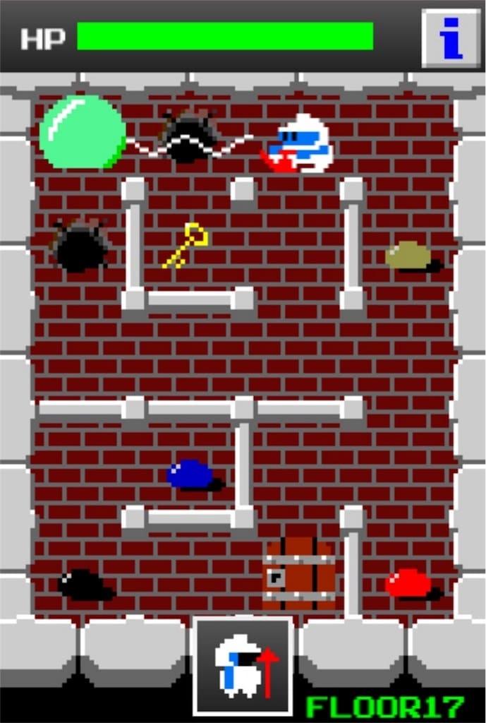 狭くて小さいドルアーガの塔 ステージ17の攻略3