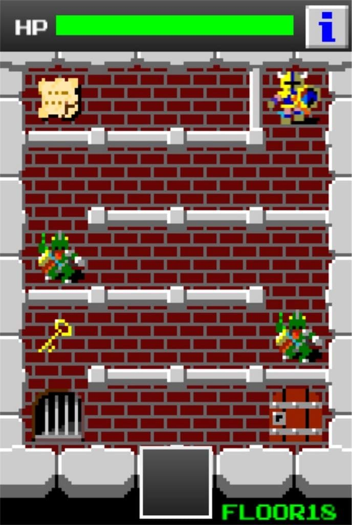 狭くて小さいドルアーガの塔 ステージ18の攻略