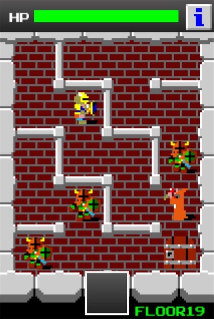 狭くて小さいドルアーガの塔 ステージ19の攻略1