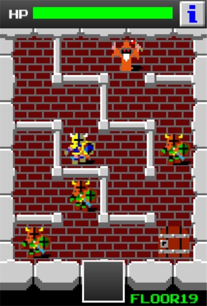 狭くて小さいドルアーガの塔 ステージ19の攻略2
