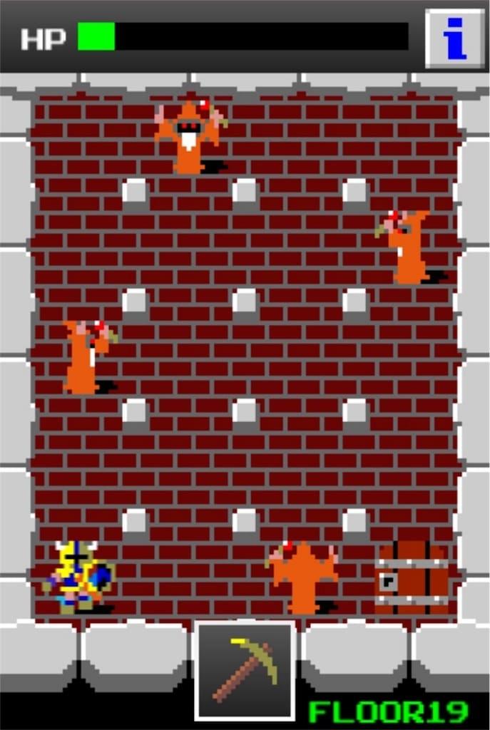 狭くて小さいドルアーガの塔 ステージ19の攻略4