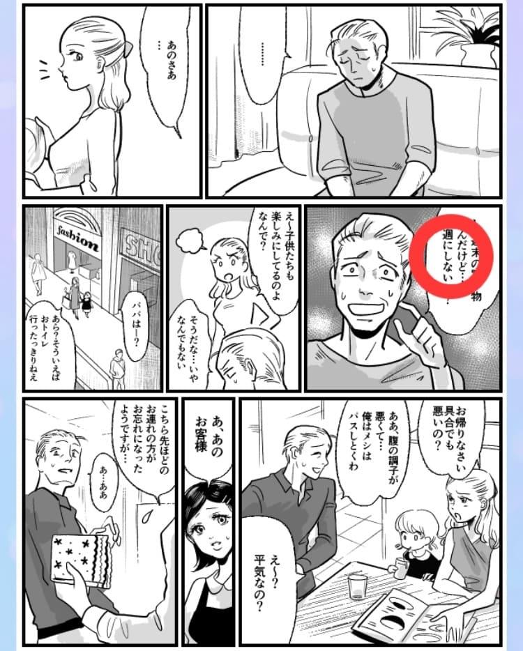 【浮気され女】 ステージ13「家族サービス日の夫」の問題.01の答え