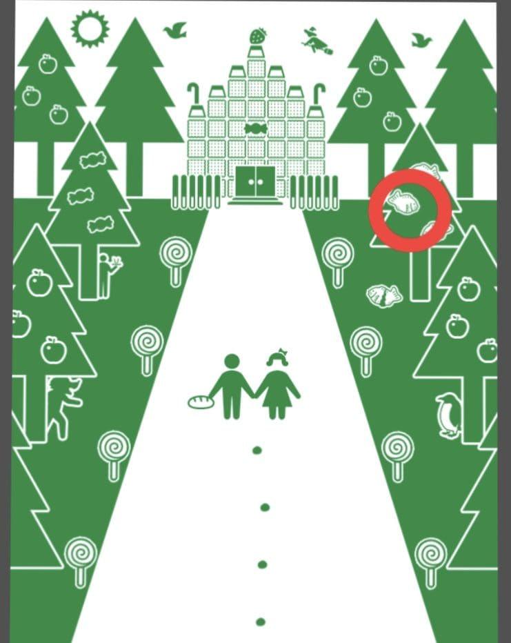 【非常口のあの人~ピクト探索ゲーム~】シリーズ1の「ヘンゼルとグレーテル」の攻略