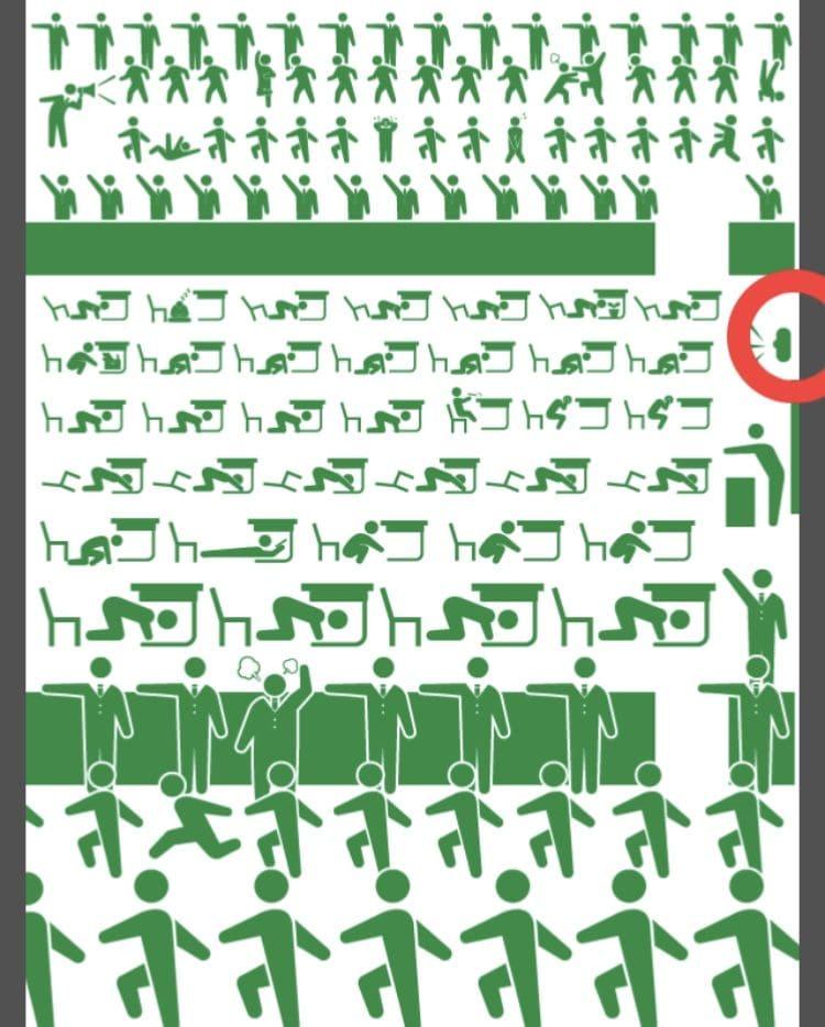 【非常口のあの人~ピクト探索ゲーム~】シリーズ2の「避難訓練」の攻略