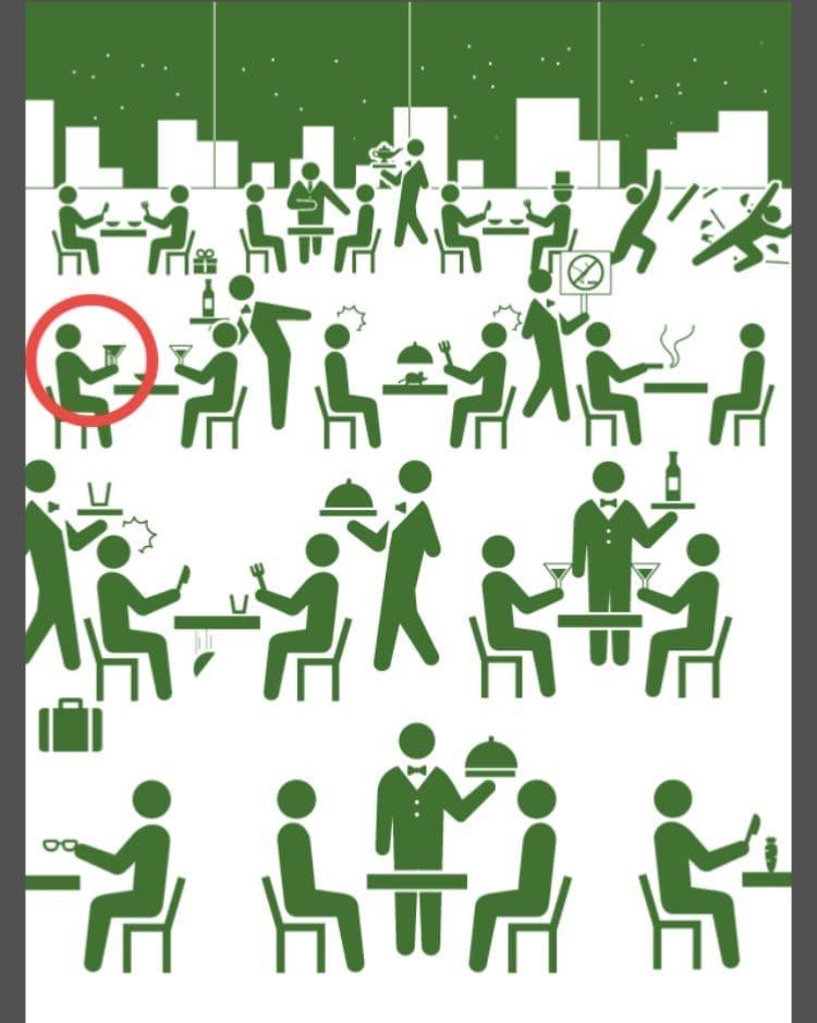 【非常口のあの人~ピクト探索ゲーム~】シリーズ3の「高級レストラン」の攻略