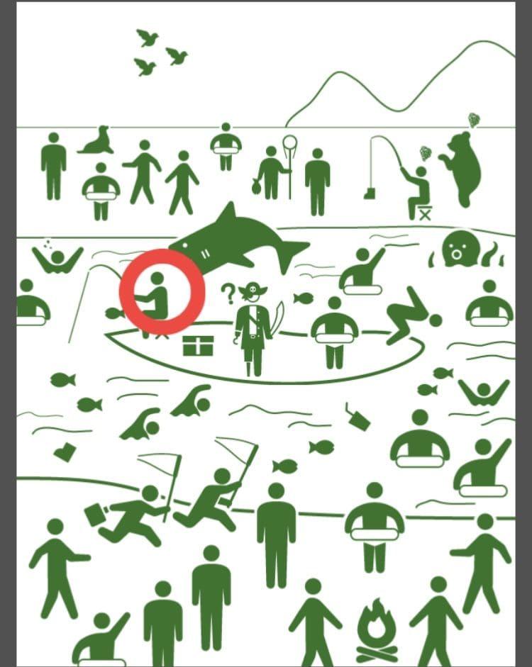 【非常口のあの人~ピクト探索ゲーム~】シリーズ3の「川遊び」の攻略