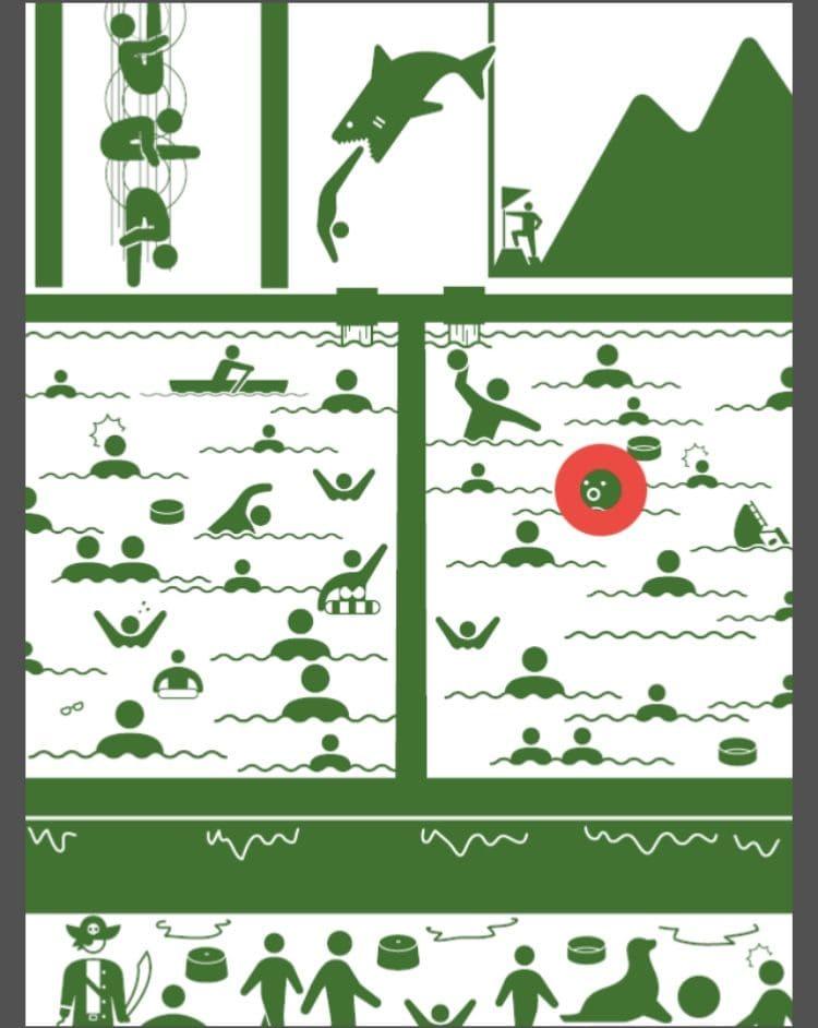 【非常口のあの人~ピクト探索ゲーム~】シリーズ3の「スーパー銭湯」の攻略