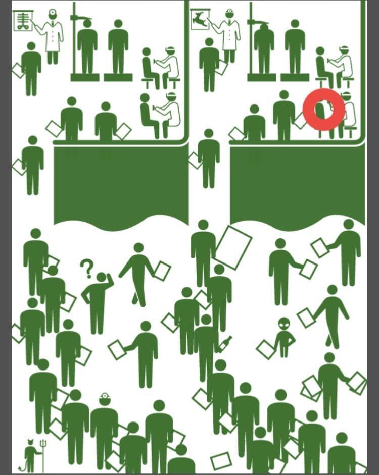【非常口のあの人~ピクト探索ゲーム~】シリーズ3の「健康診断」の攻略