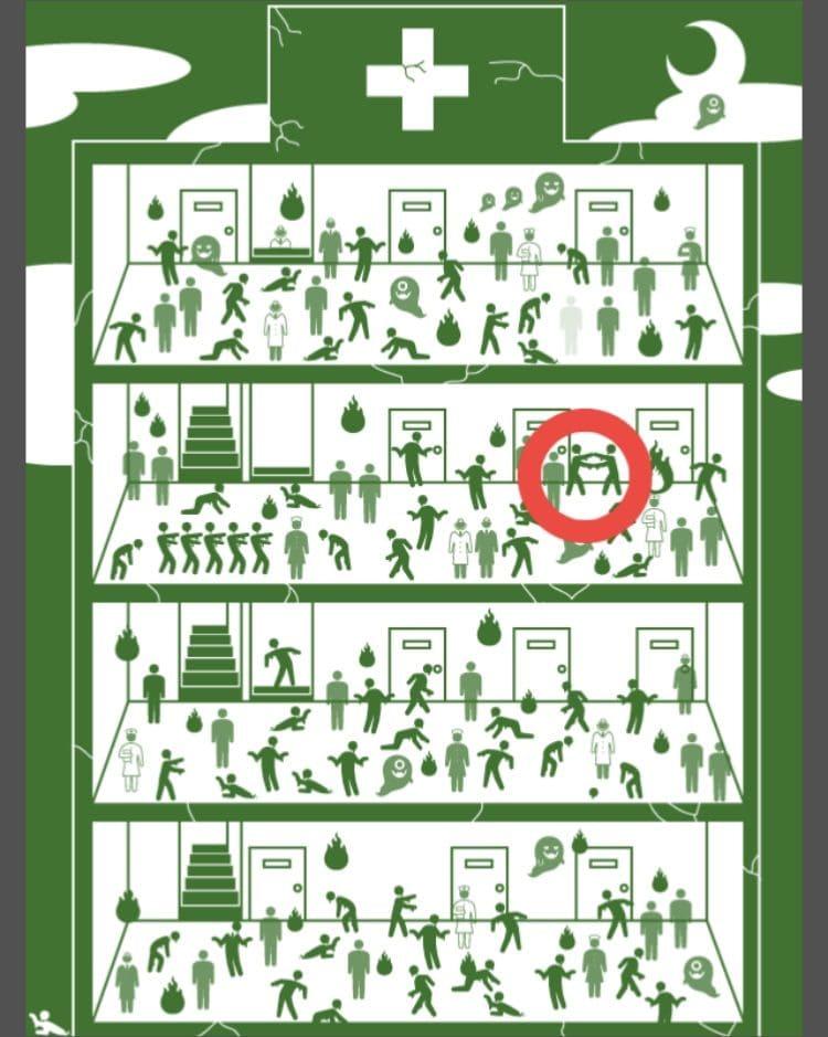 【非常口のあの人~ピクト探索ゲーム~】シリーズ3の「閉鎖された病院」の攻略