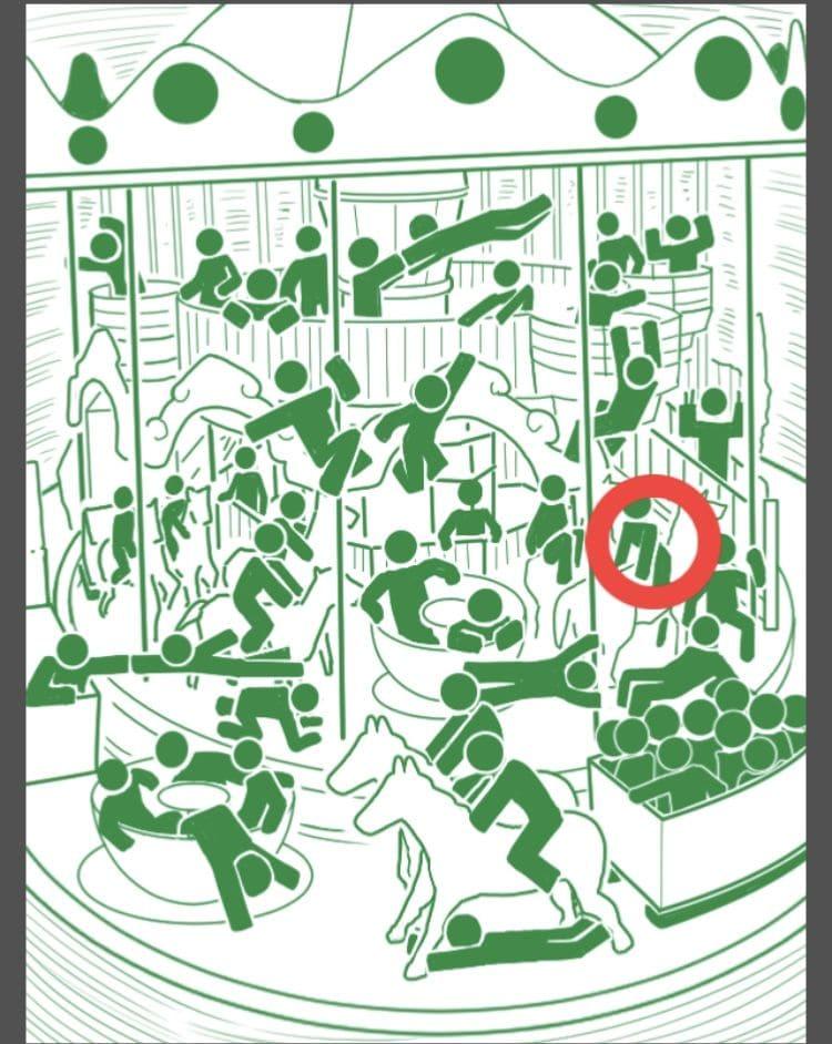 【非常口のあの人~ピクト探索ゲーム~】シリーズ4の「メリーゴーランド」の攻略